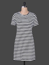 Monochrome Striped Bodycon Dress - House Of Tantrums