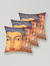 Buddha Print Polyester Cushion Cover - My Room