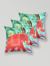 Elephant Print Polyester Cushion Cover - My Room