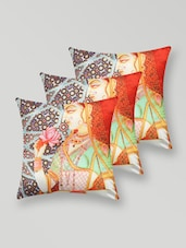 Heritage Printed Polyester Cushion Cover - My Room