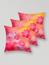 Floral Print Polyester Cushion Cover - My Room