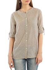 grey cotton shirt -  online shopping for Shirts