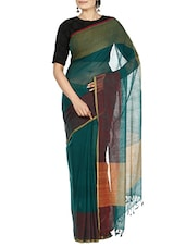 Green Cotton Saree -  online shopping for Sarees