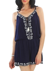 blue polyester romper -  online shopping for Jumpsuits
