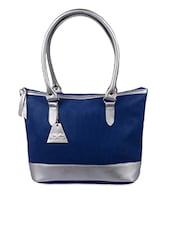 Blue Faux Leather Handbag - UNI CARRESS