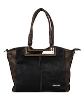 Solid Color Side Cut Work Handle Bag - KIARA