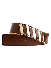 Chocolate Brown Women's Belt - Just Women