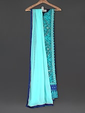 Embroidered Blue Georgette Suit Set - Sarees Bazaar