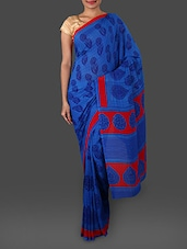 Ethnic Print Georgette Saree - By