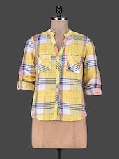 Yellow Cotton Button Shirt - SS