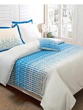 white printed cotton bed sheet set -  online shopping for Quilt Covers