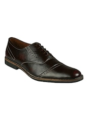 maroon leatherette oxfords -  online shopping for Oxfords