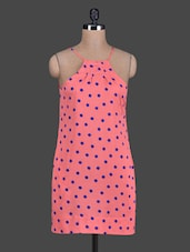 Polka Dot Printed Crepe Dress - Tops And Tunics