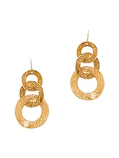 gold toned metal earrings -  online shopping for earrings