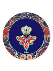 Blue Paisley Glass Clock - Kolorobia - Decor