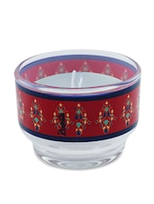 Red Lightening Glass Wax Candle Holder - Kolorobia - Decor