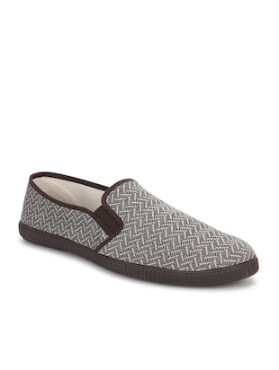 Brown Fabric casual slip on -  online shopping for slipons