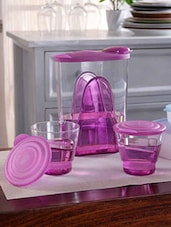 Tupperware Pink Eleganzia Pitcher with Tumbler Set  Set Of 2 -  online shopping for Decanters