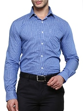 blue cotton formal shirt -  online shopping for formal shirts