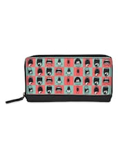 Blue And Pink Quirky Checker Print Wallet - THE BACKBENCHER