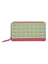Light Green Quirky Print Wallet - THE BACKBENCHER