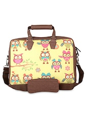 Brown Owl Faux Leather Laptop Bag - THE BACKBENCHER