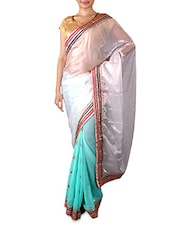 Ombre Printed Chiffon Saree - By