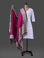 Pink Printed Poly Silk Dupatta - Inara Robes