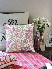 White Cotton Cushion Cover - Vista