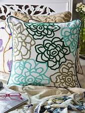 White Cotton Cushion Cover - Vista - 1157766