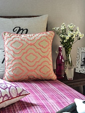 Beige Cotton Cushion Cover - Vista