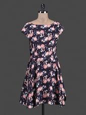 Floral Print Fit & Flare Dress - AMERICAN SAGE