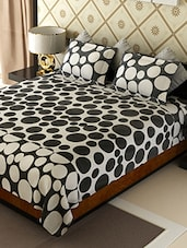 monochrome cotton printed double bedsheet set -  online shopping for bed sheet sets