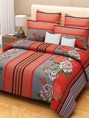 multicolored cotton printed double bed sheet set -  online shopping for bed sheet sets