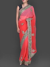 Sheer Embellished Net Saree - By