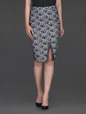 Black Lace White Base Skirt - Bella Rosa