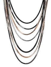 Black Metallic Necklace - By