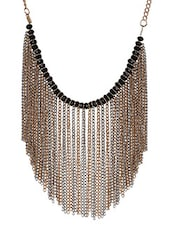 Multicolour Beaded Metallic Necklace - By