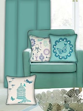 Sanaa Embroidery, Butterfly, Beads Work Cushion Cover - By