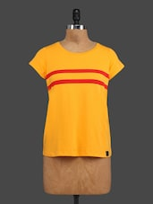 Yellow Printed Cotton Top - By