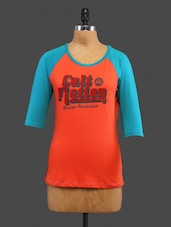 Orange Printed Cotton Top - CULT FICTION