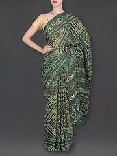 Green Bandhani Printed Saree - Banjaari