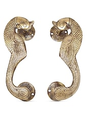 Antique Gold Peacock Door Handle (Set Of 2) - HanDecor