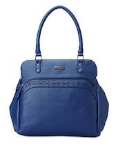 Blue Faux Leather Handbag - Peperone