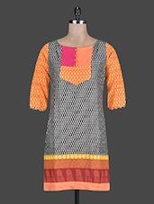 Round Neck Printed Cotton Kurta - Taaga