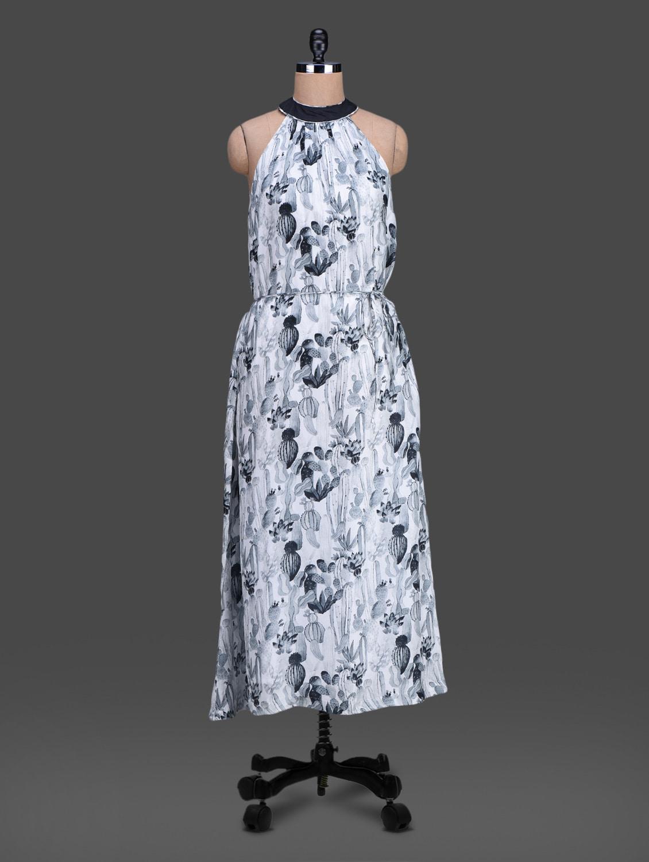 Digital Printed Sleeveless Maxi Dress - HEART MADE