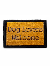 Yellow Dog Lovers Printed Doormat - By