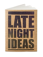 Late Night Brown Paper Notebook - By