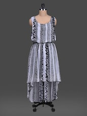 Animal Print Sleeveless High-low Dress - London Off