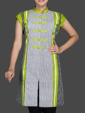 Multicolour Printed Cotton Kurta - By